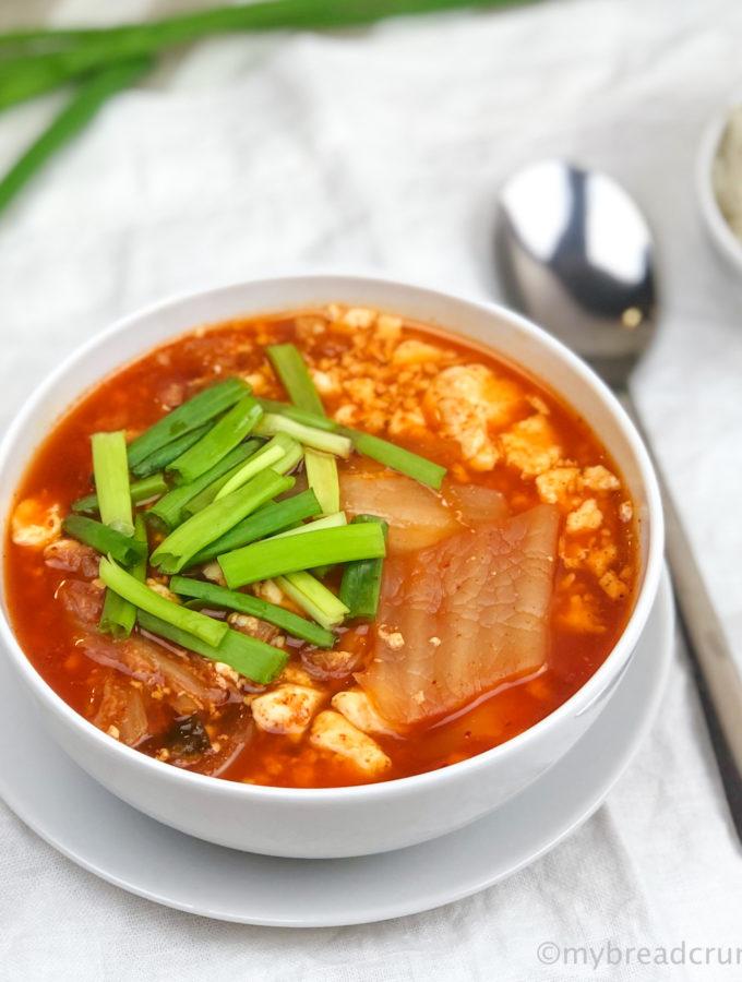 Рецепт вегетариансокго Кимчи Сунтубу Чигэ